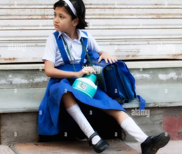 School Girl In Uniform In Udaipur Rajasthan India