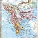 The Map Of Balkan Peninsula Turkey Greece Serbia Romania And Stock Photo Alamy