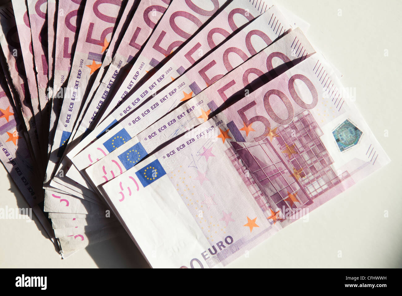 Euro Money Cash Five Hundred Europa Dinero Dolar Stock