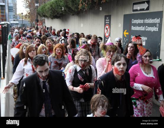 Hundreds of zombies take over downtown Ottawa for the annual Zombie Stock  Photo - Alamy