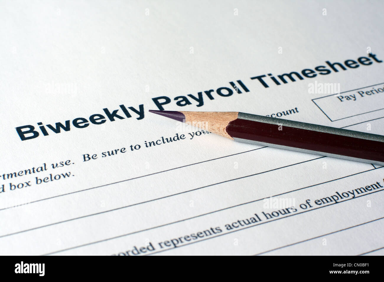 Payroll timesheet Stock Photo  47337557   Alamy Payroll timesheet