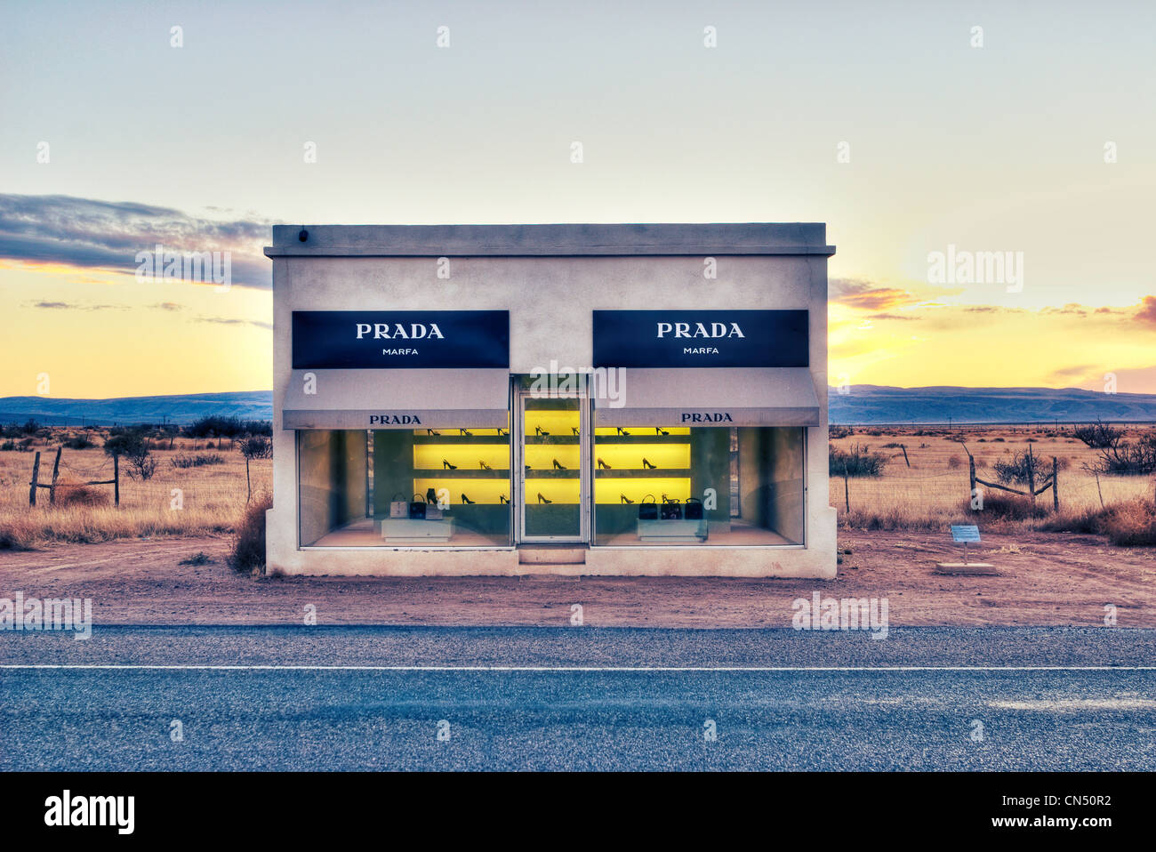 Prada Marfa Valentine TX Stock Photo Royalty Free Image