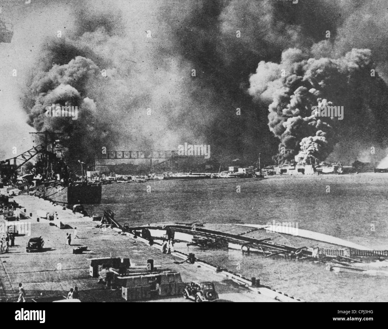 On Pearl Harbour B W Photo Stock Photo
