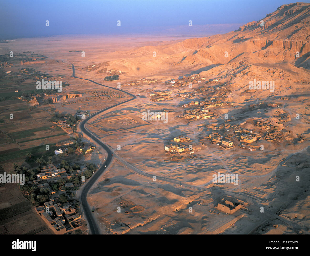 Egypt Upper Egypt Nile Valley Luxor West Bank Of River Nile Stock Photo