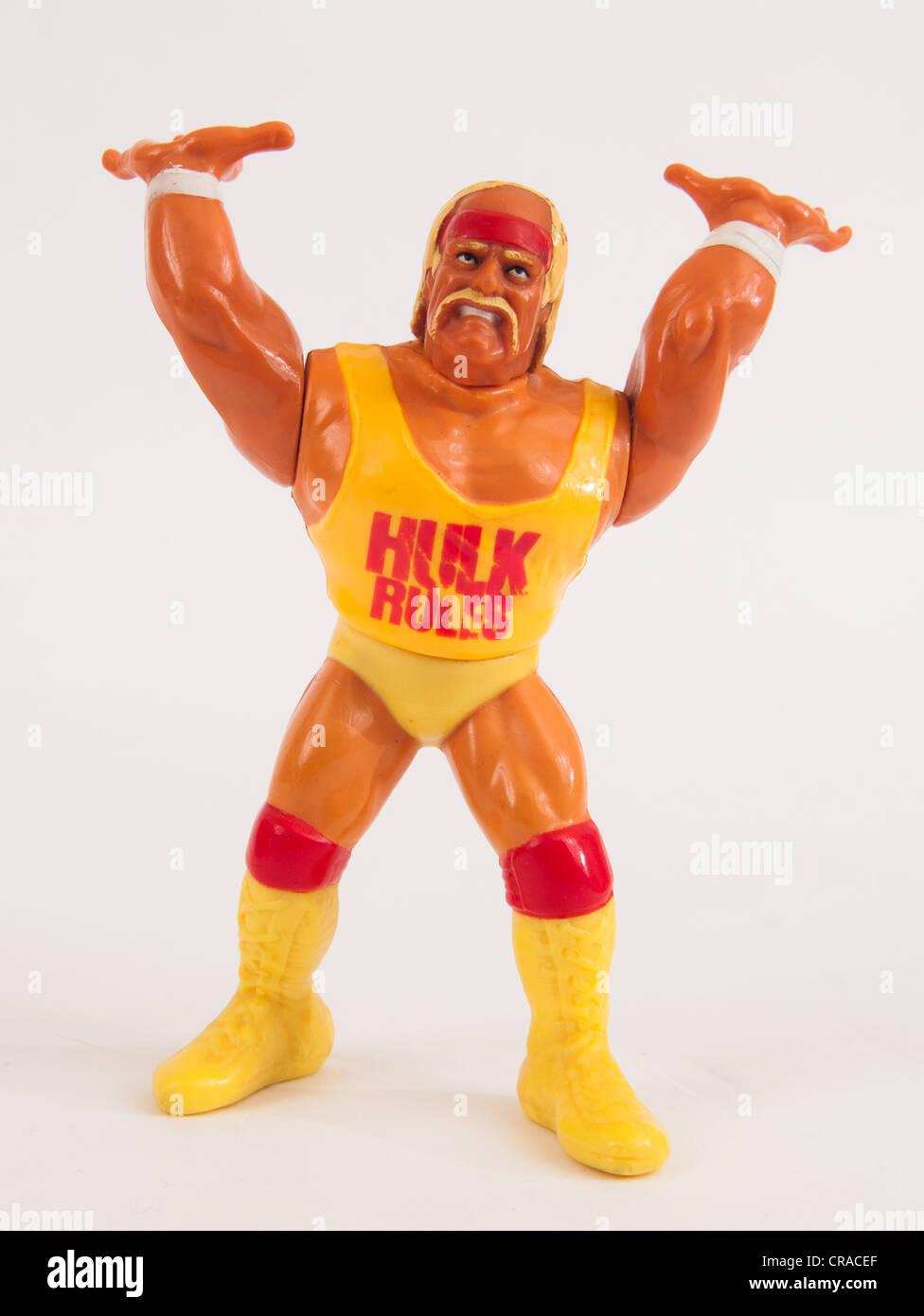 Hulk Hogan Wwf Hasbro Series 1 Action Figure Stock Photo Alamy