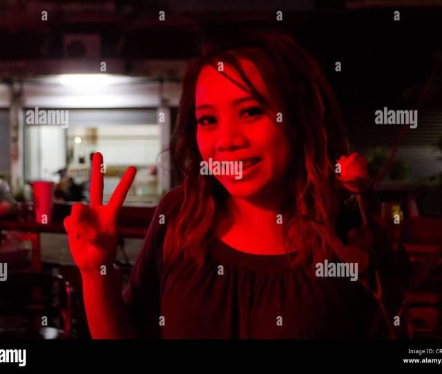 Prostitute Portrait In Pattaya Gogo Bar Thailand