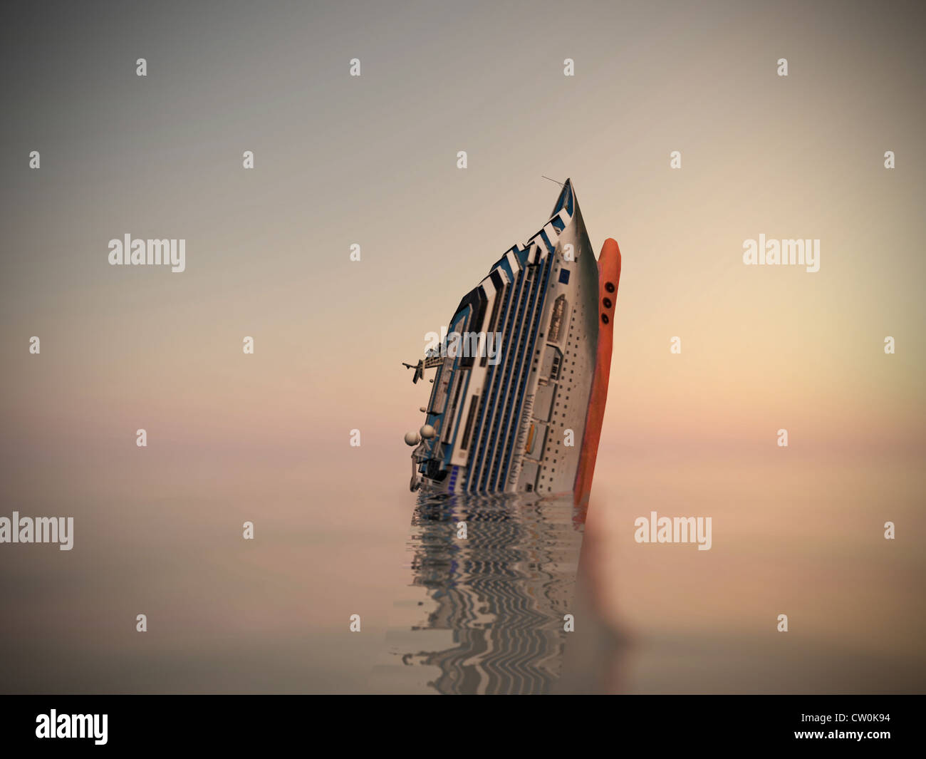 https www alamy com stock photo cruise ship sinking in the sea 49802288 html