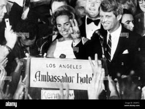 Ethel Kennedy, Senator Robert F. Kennedy, at the Ambassador Hotel ...