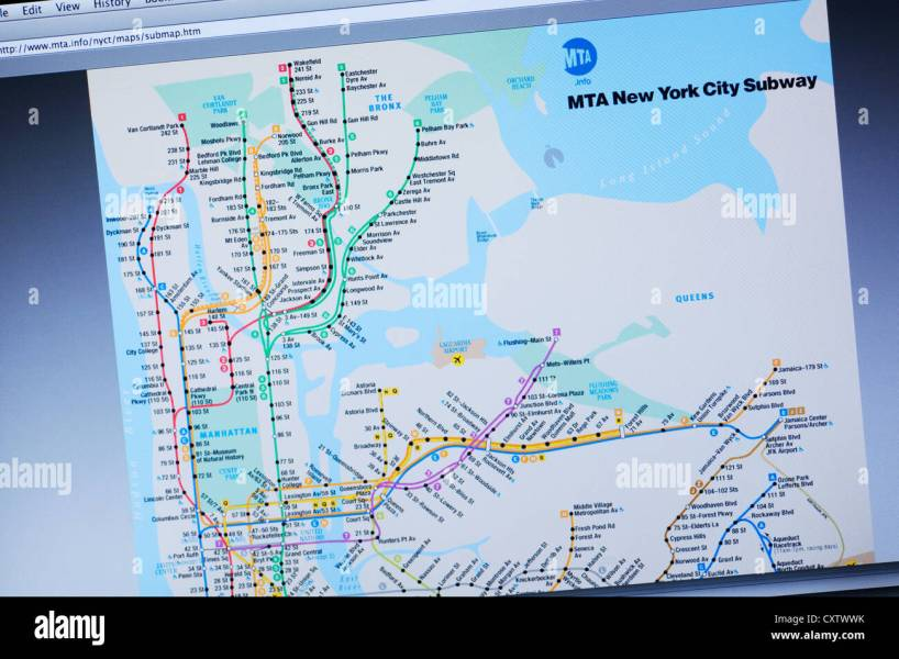 New York City subway map website Stock Photo  50948959   Alamy New York City subway map website