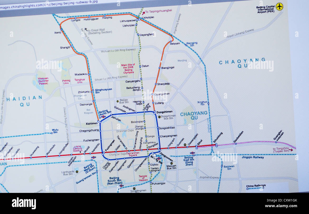 Beijing metro website   subway map Stock Photo  50951843   Alamy Beijing metro website   subway map