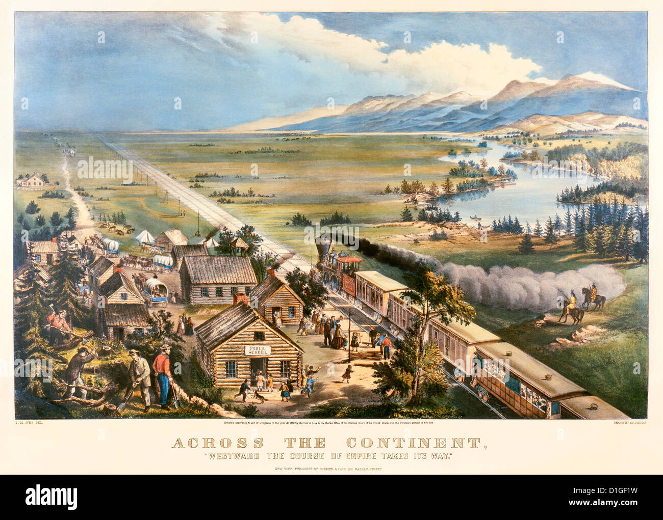 Transcontinental Railroad Across The Great Plains