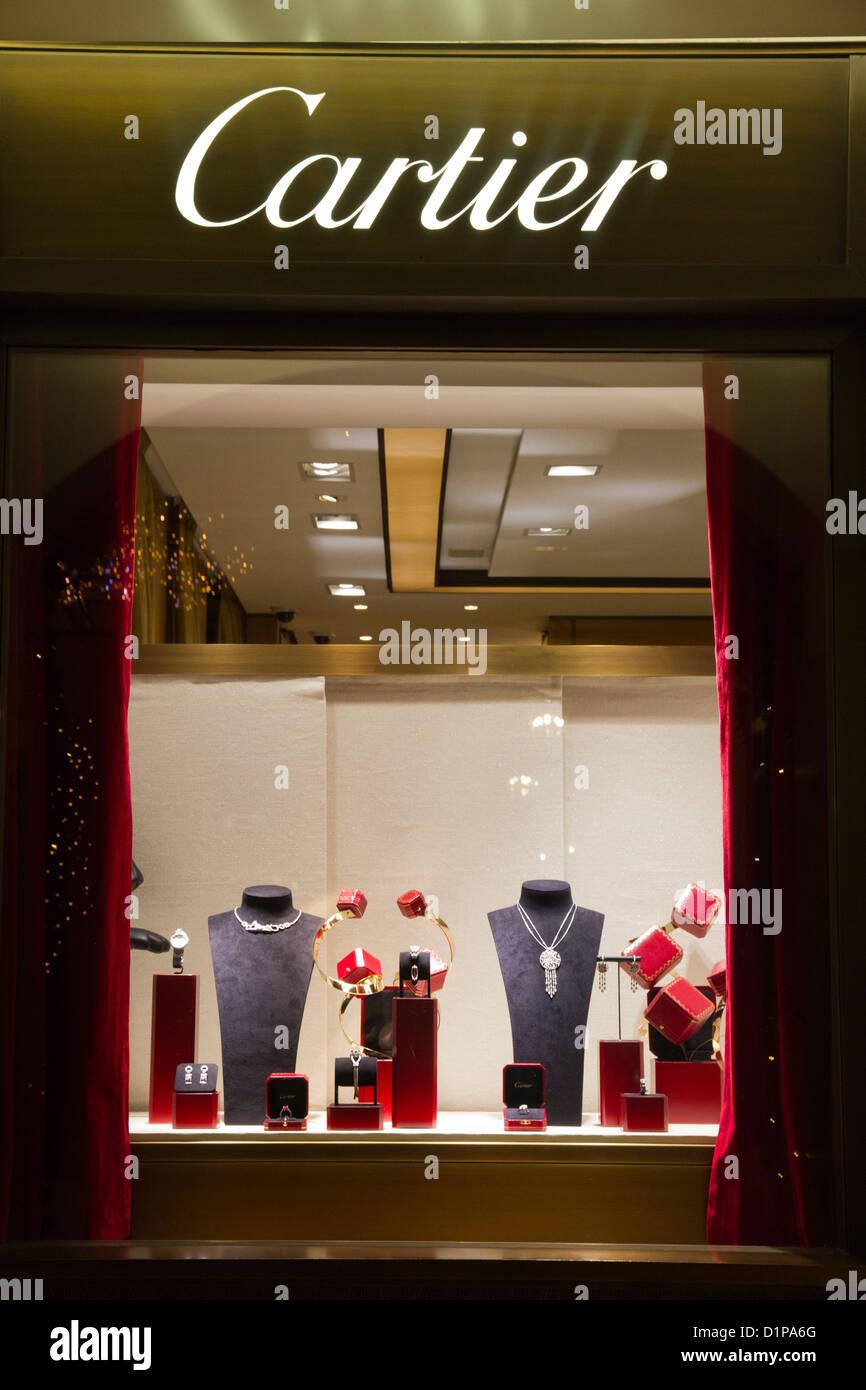 Cartier Window Store Jewelry Showcase Via Condotti Rome