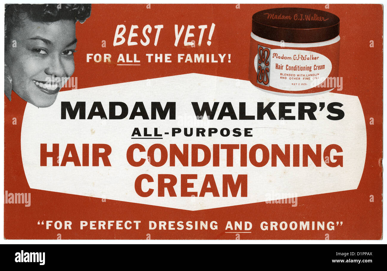 Circa S Advertising Sign For Madam Cj Walker S All