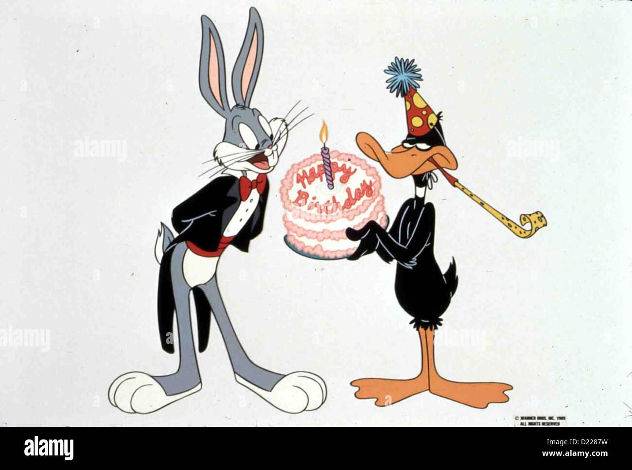 Happy Birthday Bugs Happy Birthday Bugs Bugs Bunny Und Daffy Duck Local Caption 1989 Warner Brothers Stock Photo Alamy