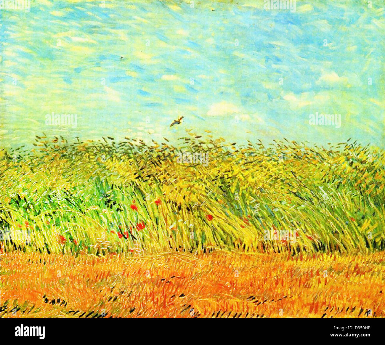 Vincent Van Gogh Wheat Field With A Lark 1887 Post