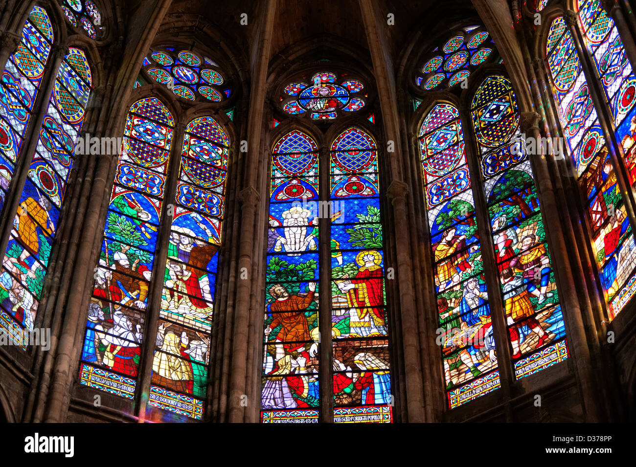 Image result for colored window at Basilica of St Denis