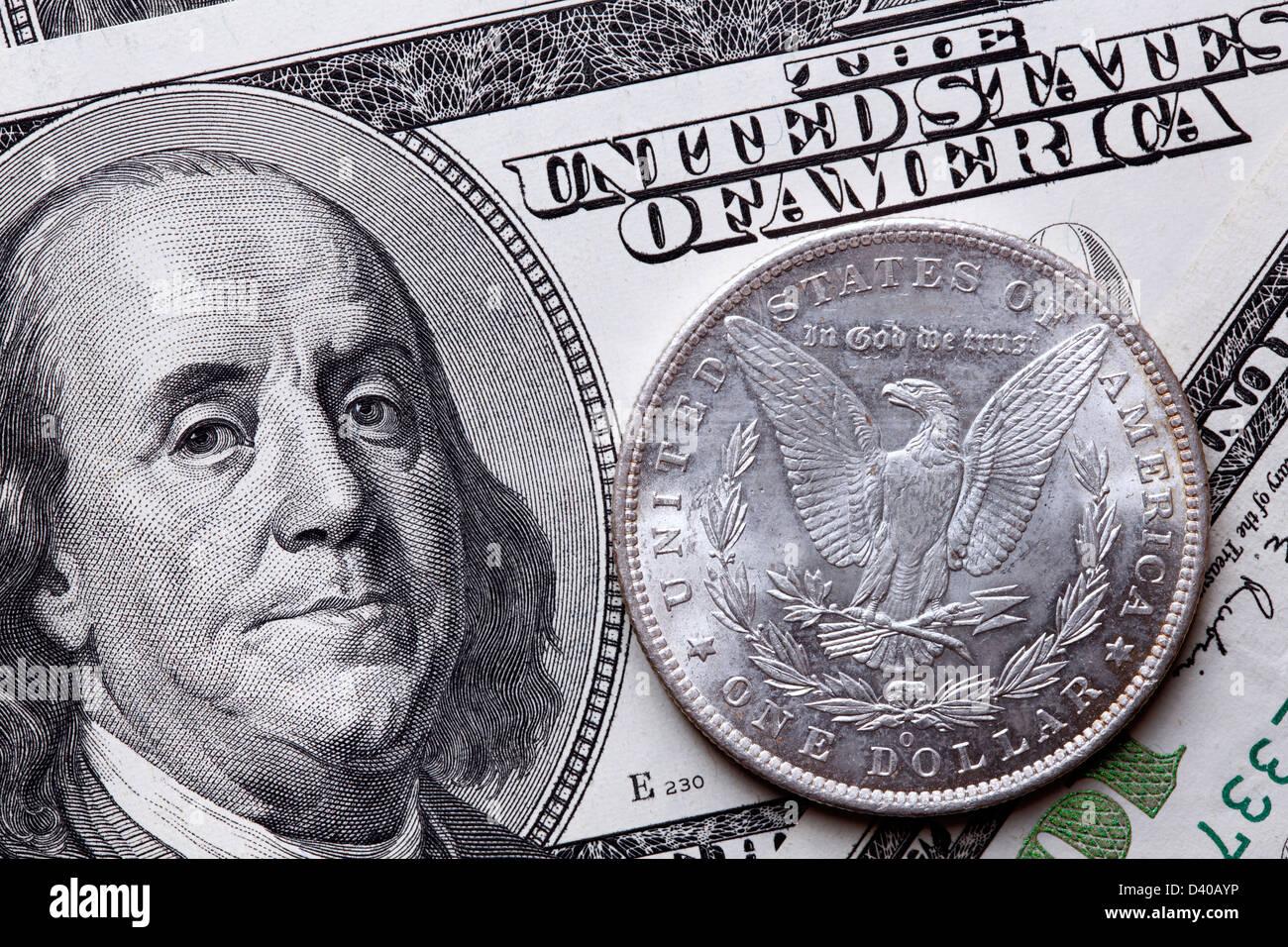 100 Dollars Banknote Benjamin Franklin Usa And