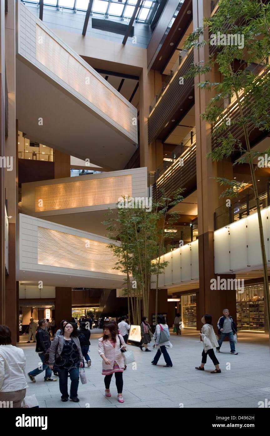 Multi Story Shopping Mall Atrium At Modern Tokyo Midtown