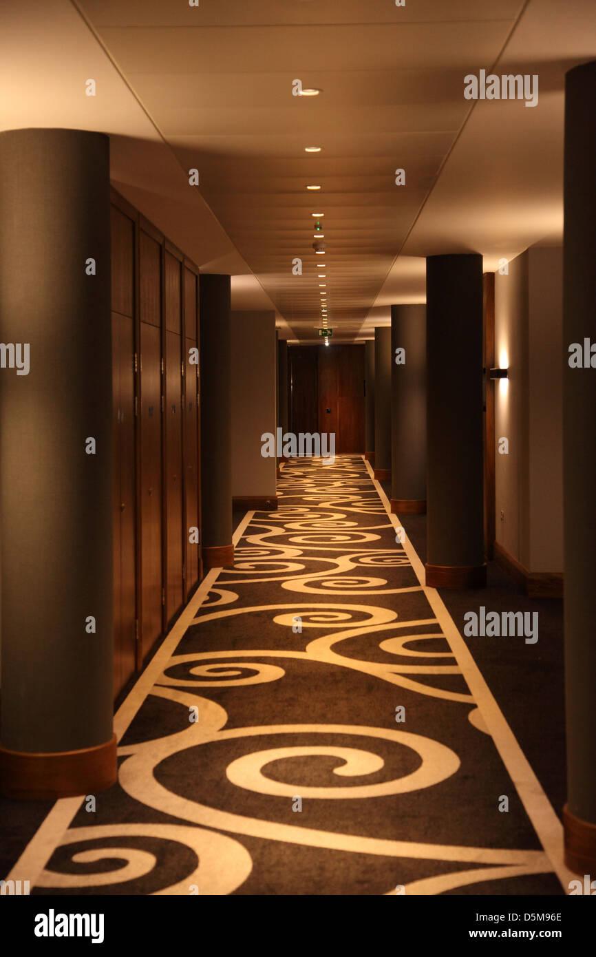 hotel hallway lighting. Hotel Corridor With A Modern Carpet And Lighting Design At The Hallway