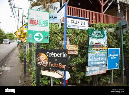 costa rica street sign