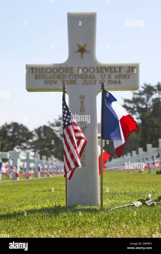Image result for teddy roosevelt's grave at normandy