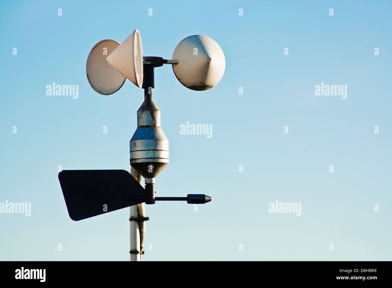 Anemometer On Weather Station Measuring Wind Speed For