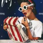 Vintage Vogue Magazine Cover Stock Photo Alamy