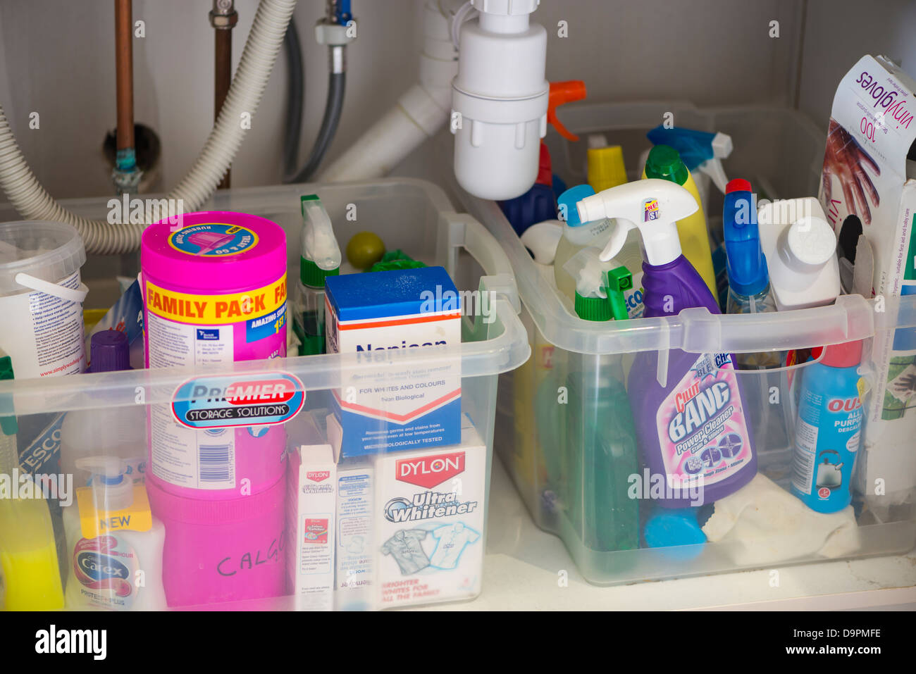 https www alamy com stock photo domestic cleaning products under sink 57662066 html