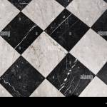 Black And White Marble Tiles Bathroom Flooring Stock Photo Alamy