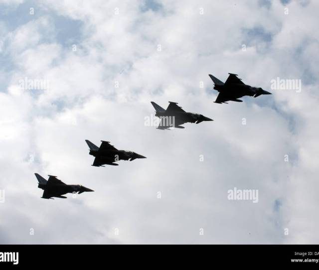 Four Fighter Jets Escort The Airplane With Pope Benedict Xvi On Board At Tegel Airport In Berlin Germany  The Head Of The Roman Catholic