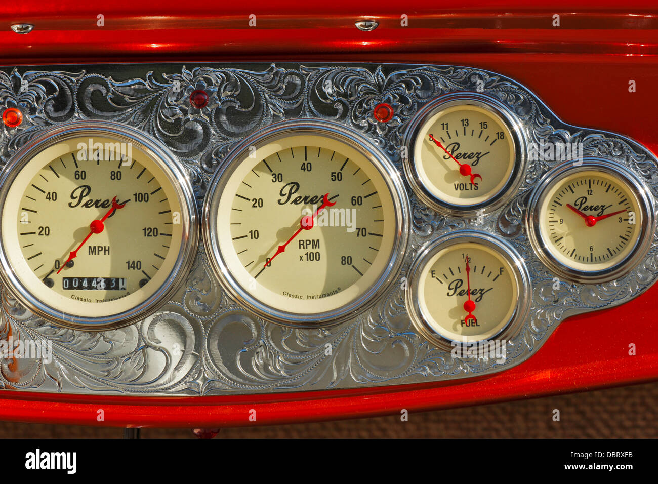 Perez Custom Instrument Panel In Classic Car During