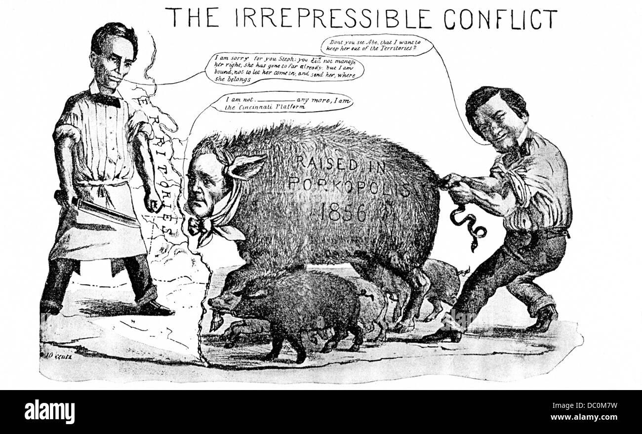 S S Cartoon Irrepressible Conflict Between