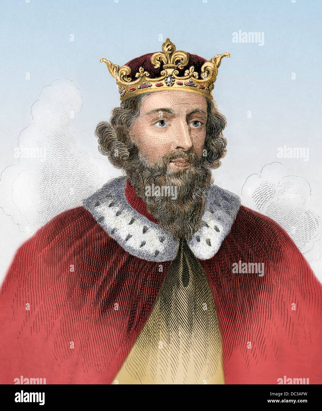 Alfred The Great King Of Wes800s A D Hand Colored