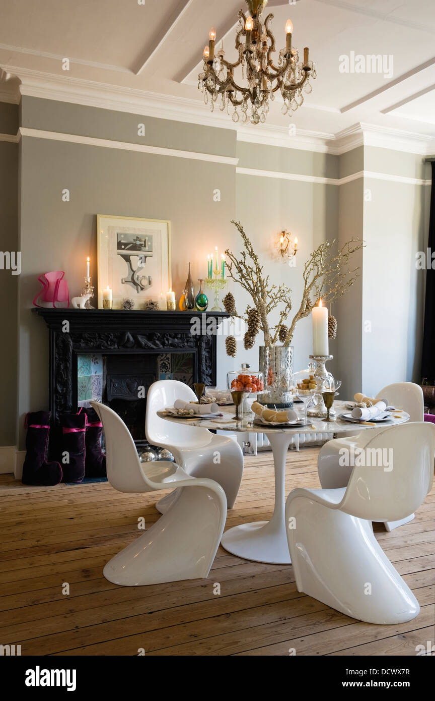 Modern Dining Room In Victorian Terrace Decorated For