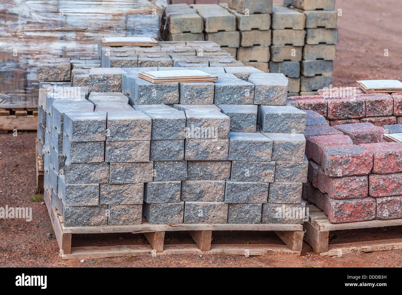 https www alamy com stock photo stacks of various colored concrete pavers paving stone or patio blocks 59915733 html