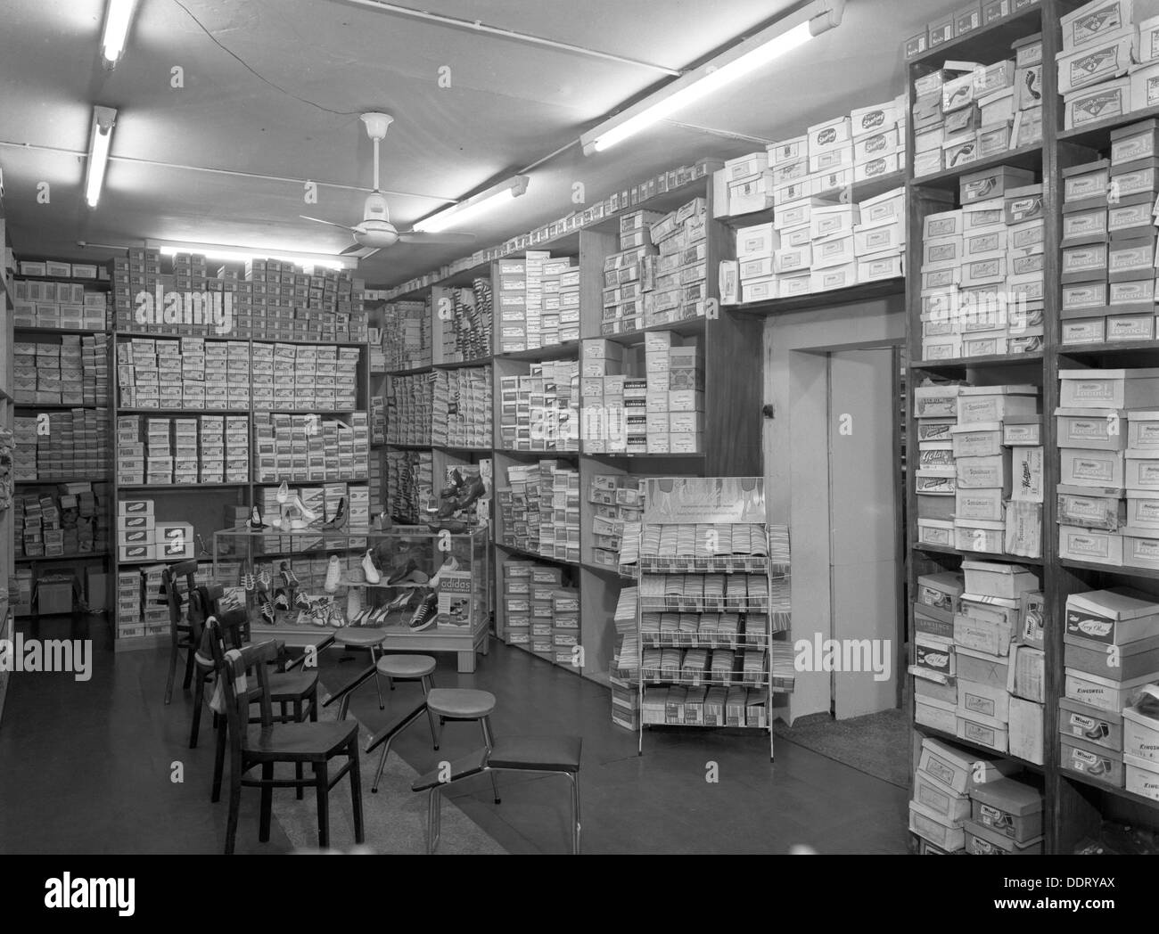 Sports shop interior  Sheffield  South Yorkshire  1961  Artist Stock     Sports shop interior  Sheffield  South Yorkshire  1961  Artist  Michael  Walters