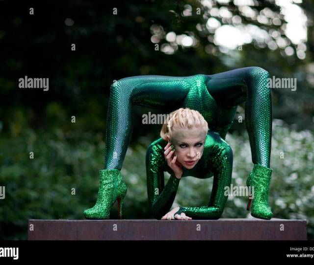 Bergisch Gladbach Germany Th Sep  Contortionist Zlata Poses In A Park