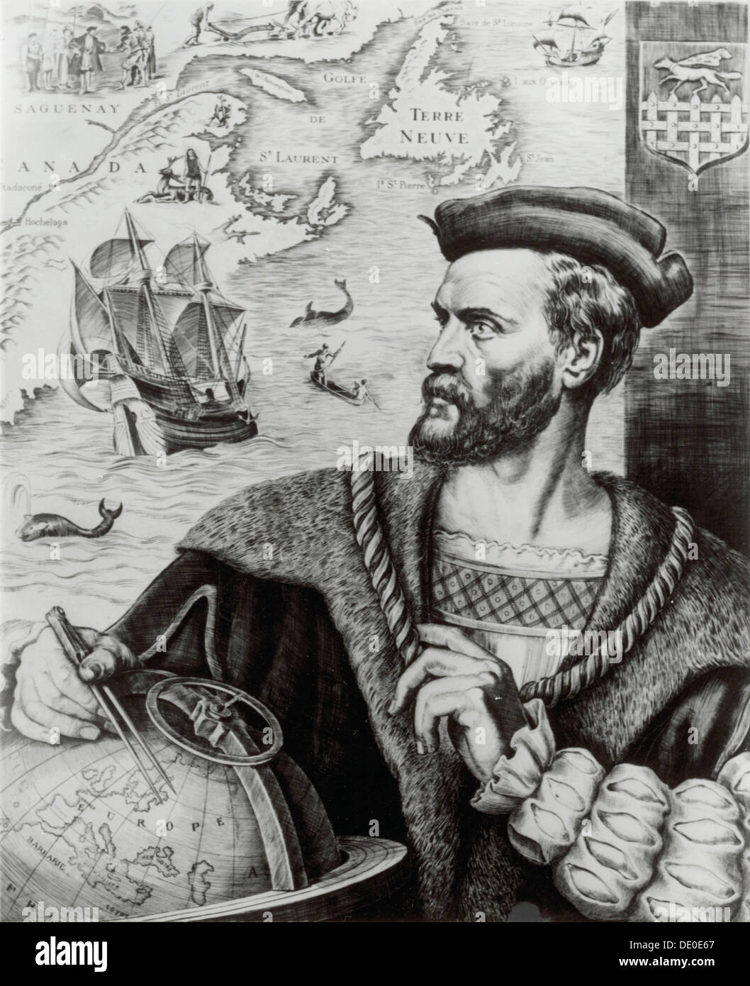 Jacques Cartier 16th Century French Explorer Cartier