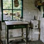 Vintage Writing Desk In A Preserved 1800 S Early 1900 S Cottage Type Stock Photo Alamy