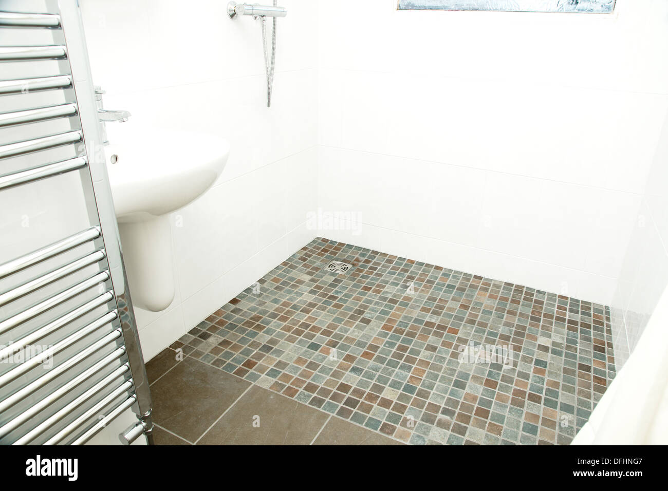 https www alamy com a specially adapted wet room shower bathroom with non slip tiles used image61241047 html