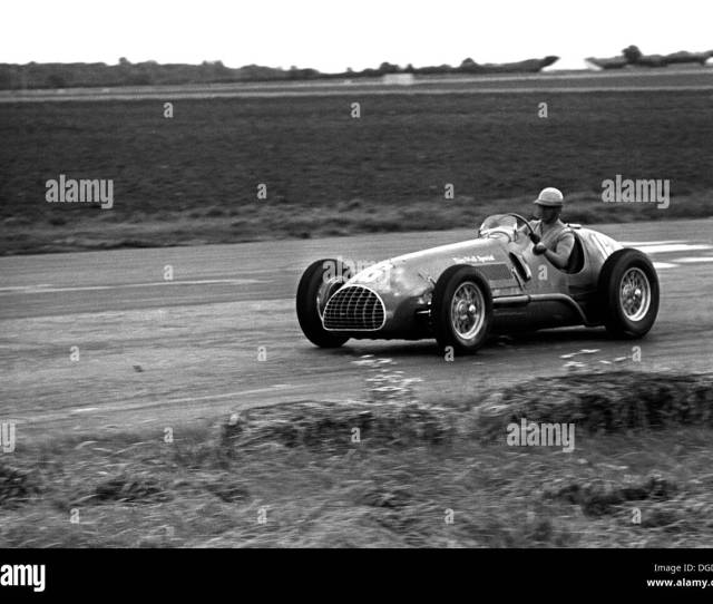 Alberto Ascari Driving A Ferrari Thinwall Special V In The International Trophy At Silverstone England