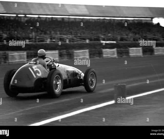 Alberto Ascari Winning In A Works Ferrari  At Stowe Corner British Grand Prix