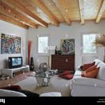 Rustic Living Room With Old Chest Of Drawers And Sofa Wood