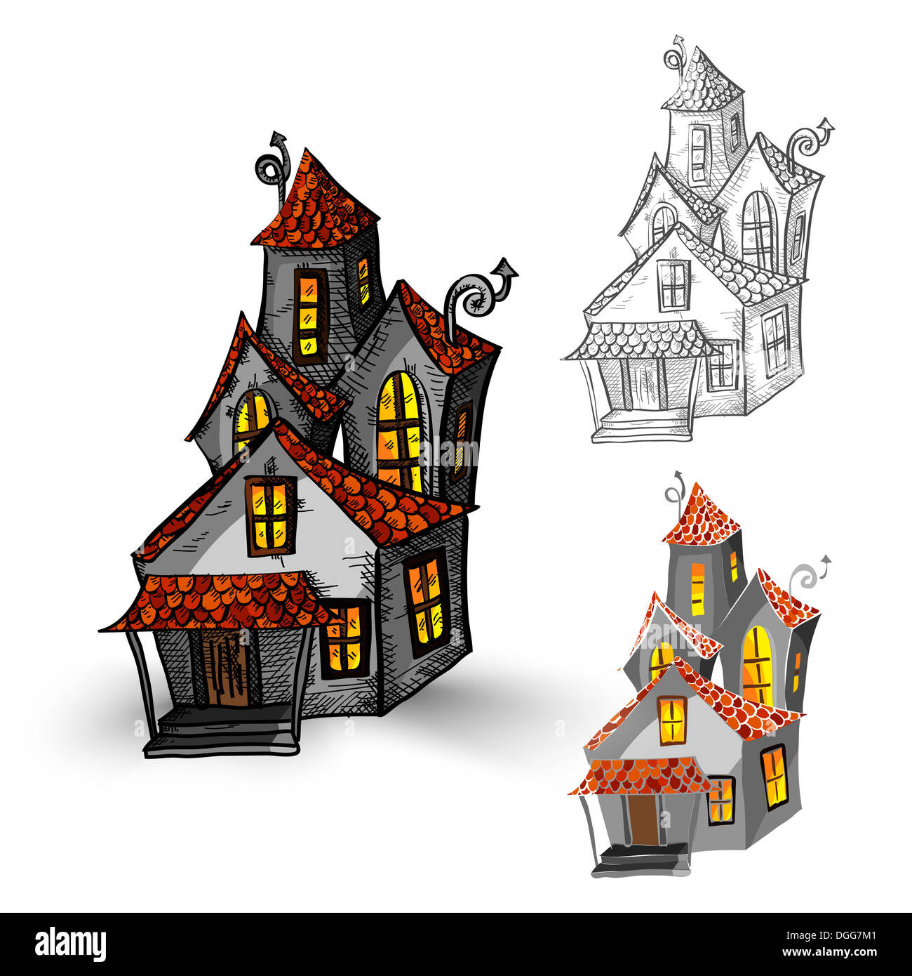 Haunted House Monster Monsters Stock Photos Amp Haunted