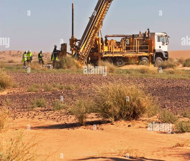 Reconnaissance Rc Exploration Drilling For Gold In Sahara Desert Mauritania Nw Africa