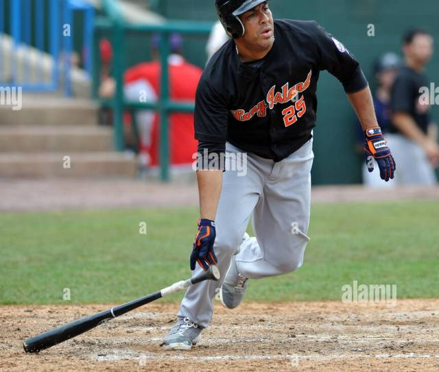 July 24 2011 Camden New Jersey United States Of America John Rodriguez Of The Long Island Ducks Heads For First Base After Making Contact During An
