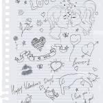 Hand Drawn Love Doodles Stock Vector Image Art Alamy
