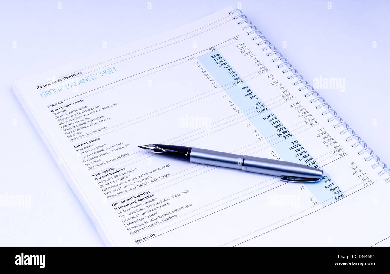 Balance Sheet Stock Photos Amp Balance Sheet Stock Images