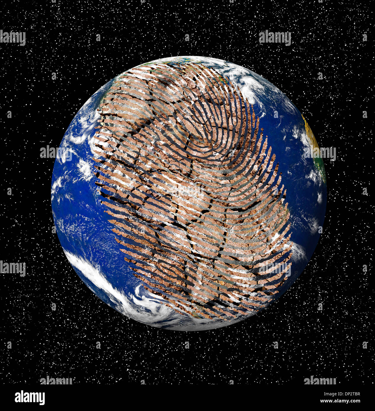 Human Impact On The Environment Artwork Stock Photo