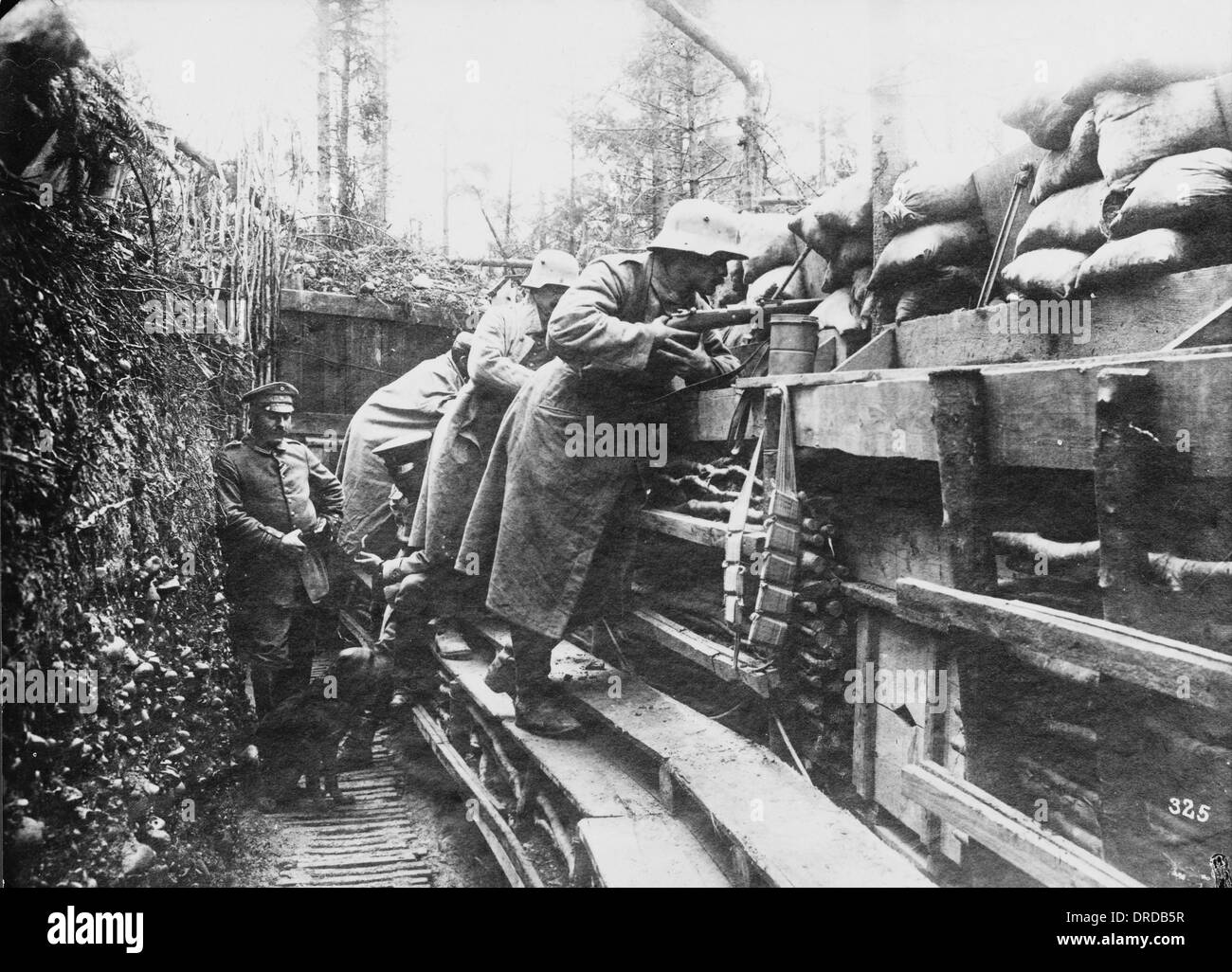 German Trenches Wwi Stock Photo